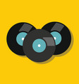 vinyl in flat style with shadow vector image vector image