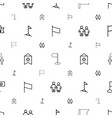 waving icons pattern seamless white background vector image vector image