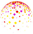 White ball with colorful rhombs