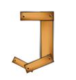 wooden type j vector image vector image