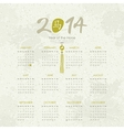 Year of the Horse - 2014 Calendar vector image vector image