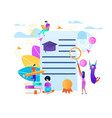 young people training around of certificate blank vector image vector image