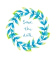 Watercolor wreath with tropical leaves vector image