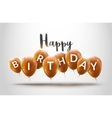 Happy birthday balloons celebration Birthday vector image