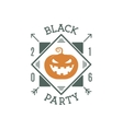 Happy Halloween 2016 black party invitation label vector image