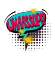 Comic text speech bubble whassup vector image