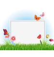 empty white frame vector image