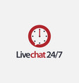 24 hours chat logo icon template vector image