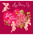 angel rose 380 vector image vector image