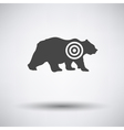 Bear silhouette with target icon vector image vector image