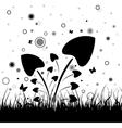 Black grass vector image vector image