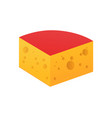 block of cheese icon isolated on white vector image vector image