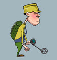cartoon character of man walking vector image vector image
