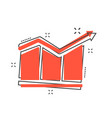 cartoon chart icon in comic style graph pictogram vector image vector image