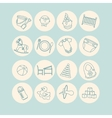 Child and baby care center thin line icons vector image