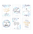 Christmas lettering cards vector image vector image