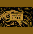 christmas sale banner poster black and gold vector image