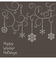 Christmas snowflakes decorations vector image vector image