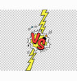 colorful versus letters with speech bubble vector image
