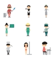 Concept of flat icons on white background people vector image vector image