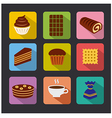 confectionery icons color vector image
