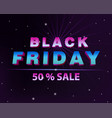 dark web banner for black friday sale vector image vector image