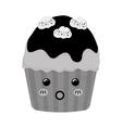 Delicious cupcake dessert vector image vector image