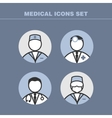 Doctors icons vector image