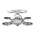 drone aircraft propeller copter technology front vector image