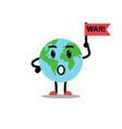 earth planet fear character vector image vector image