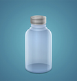 Empty jar for injection vector image vector image