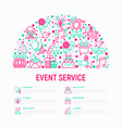 event services concept in half circle vector image vector image