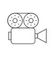 film camera recorder movie reel tape vector image vector image