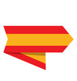 flag of spain on a label vector image vector image