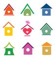 group bird houses vector image