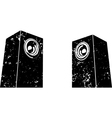 grunge sound-system speaker icon in black white vector image vector image