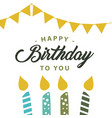happy birthday to you template design vector image vector image