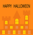 happy halloween haunted house shadow dark castle vector image