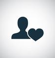 heart profile icon vector image