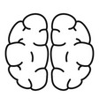 human brain icon outline style vector image