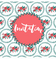 invitation template on patterned background vector image vector image