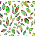 leaves seamless colored vector image vector image