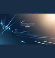 lines abstract with light on blue background vector image vector image