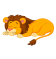 Lion cartoon sleeping vector image vector image