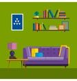 Living room Interior Modern flat design vector image vector image