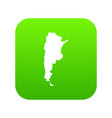 map of argentina icon digital green vector image