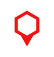map pin icon flat location pointer sign red vector image vector image