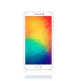 modern smartphone with geometric polygonal vector image vector image