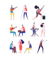 musicians set people performing rock music vector image vector image