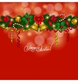 New Years background - a garland of fir branches vector image